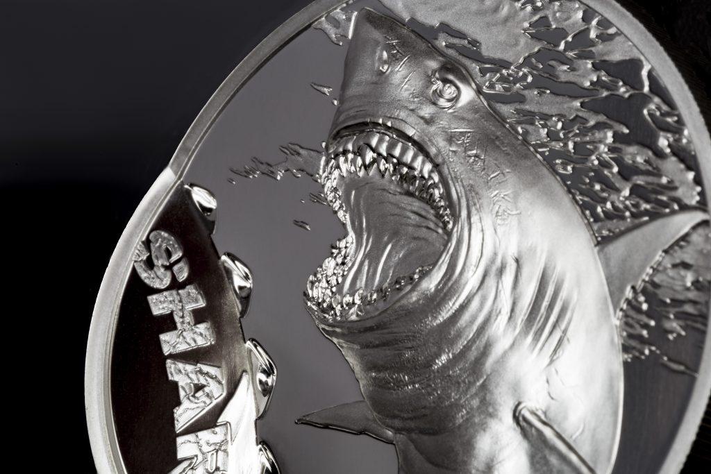 Palau 2017 5 Dollars Shark Silver Coin