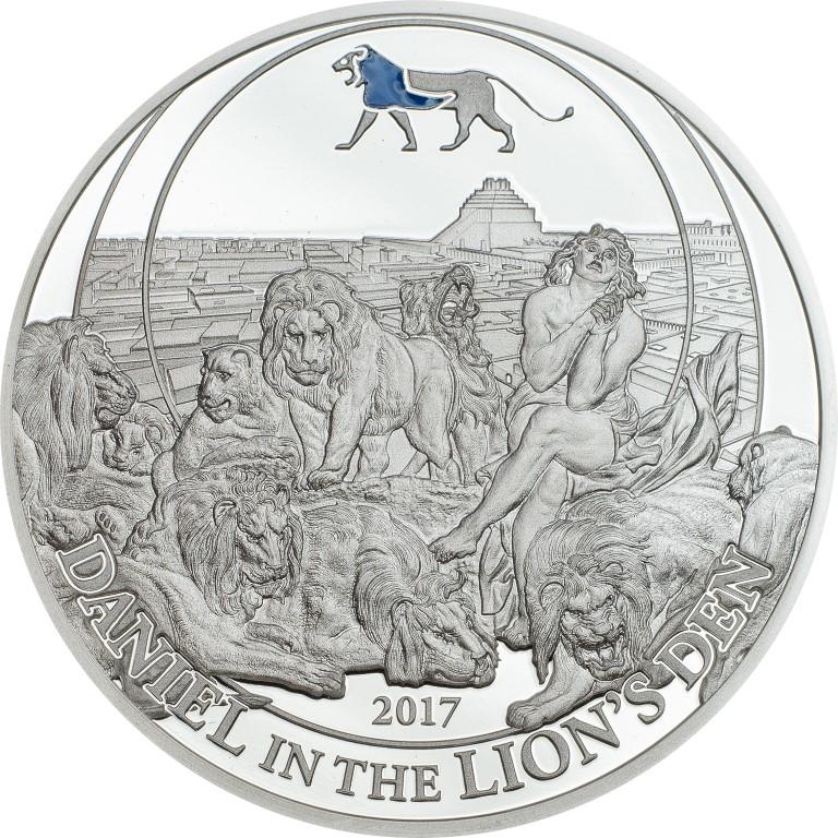 Palau 2017 2 Dollars Daniel in the Lions Den Silver Coin