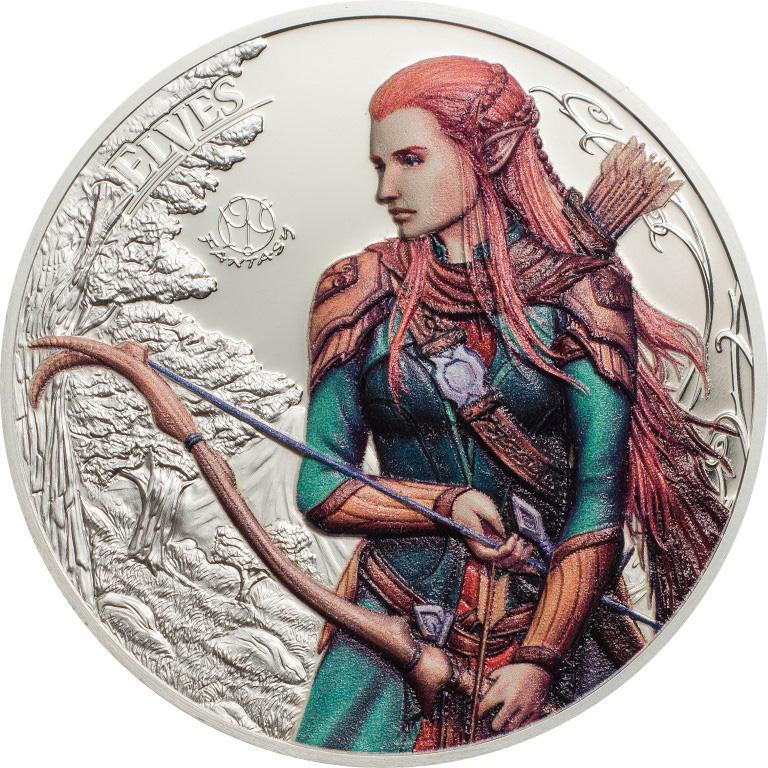 Palau 2017 5 Dollars The Elves Silver Coin