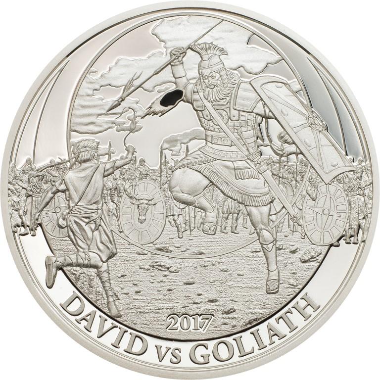 Palau 2017 2 Dollars David vs Goliath Silver Coin
