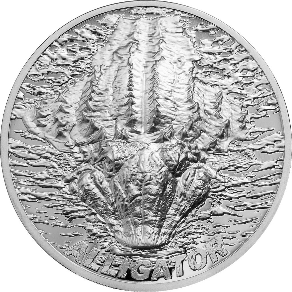 Palau 2018 5 Dollars Alligator Silver Coin