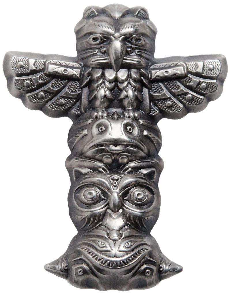 Palau 2018 10 Dollars Totem Pole 3D Silver Coin