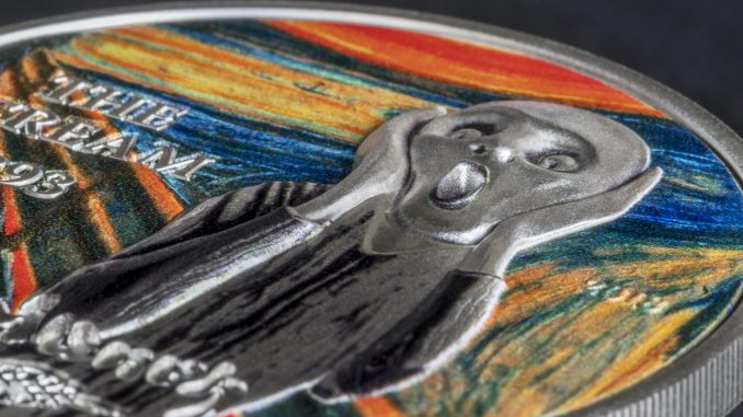 Palau 2018 5 Dollars The Scream Revived Silver Coin