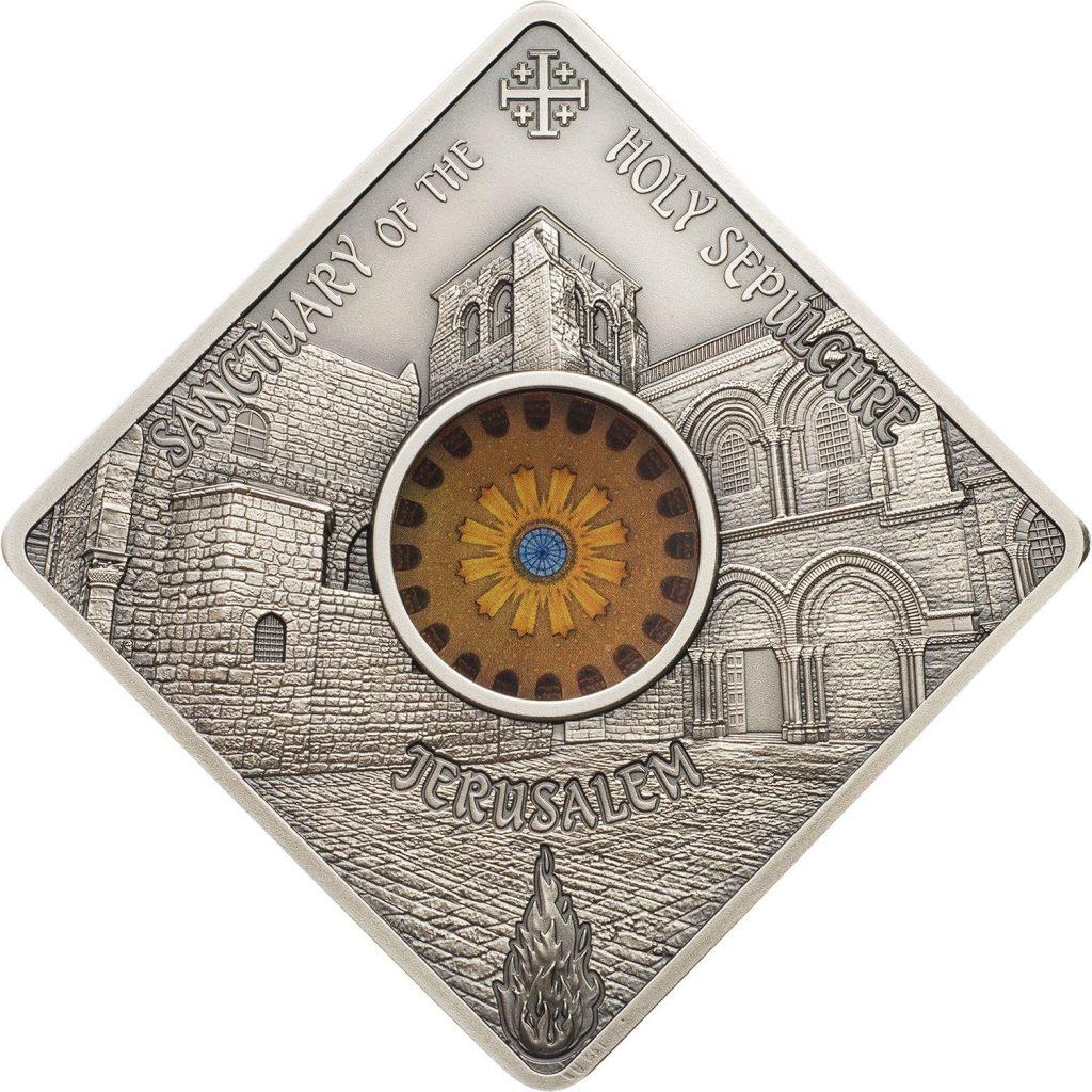 Palau 2018 10 Dollars Holy Sepulchre Jerusalem Silver Coin