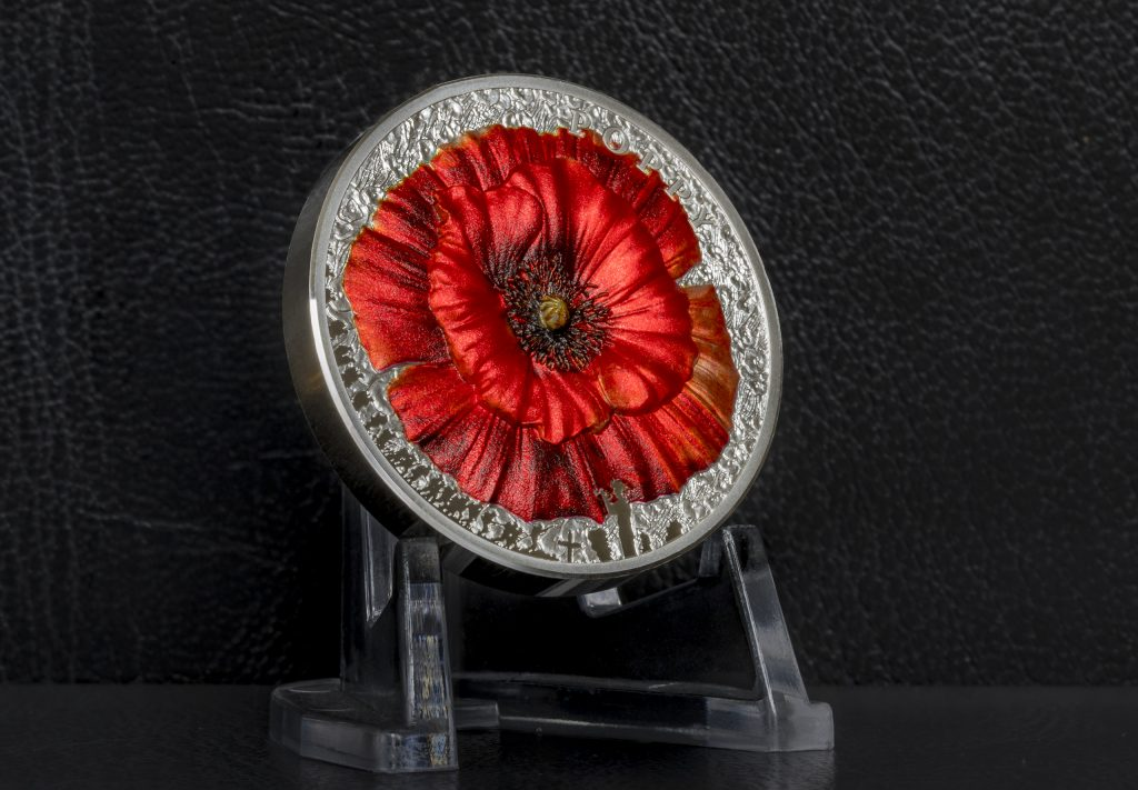 Palau 2019 10 Dollars The Poppy Silver Coin