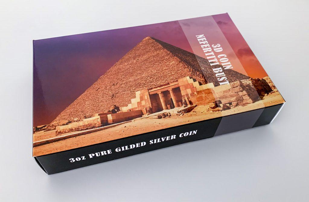 Palau 2019 20 Dollars Nefertiti Bust Golden Coin