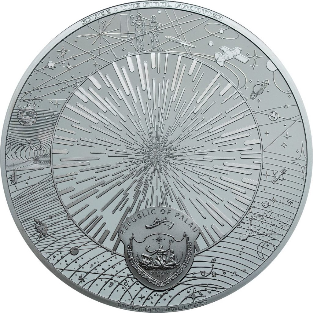 Palau 2019 20 Dollars The Universe Silver Coin