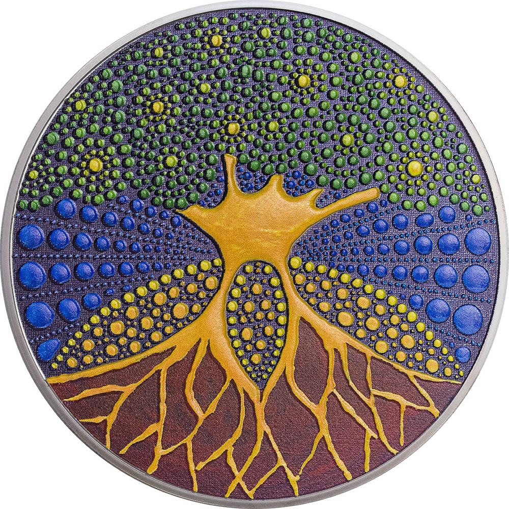 Palau 2020 20 Dollars Tree of Life DOT Art Series Silver Coin