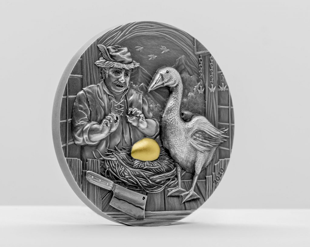 Palau 2020 10 Dollars The Goose That Laid the Golden Eggs Silver Coin