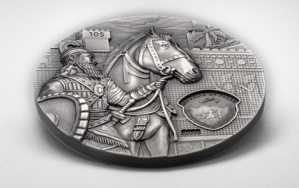 Palau 2021 10 Dollars Babylon Lost Civilization Series Silver Coin