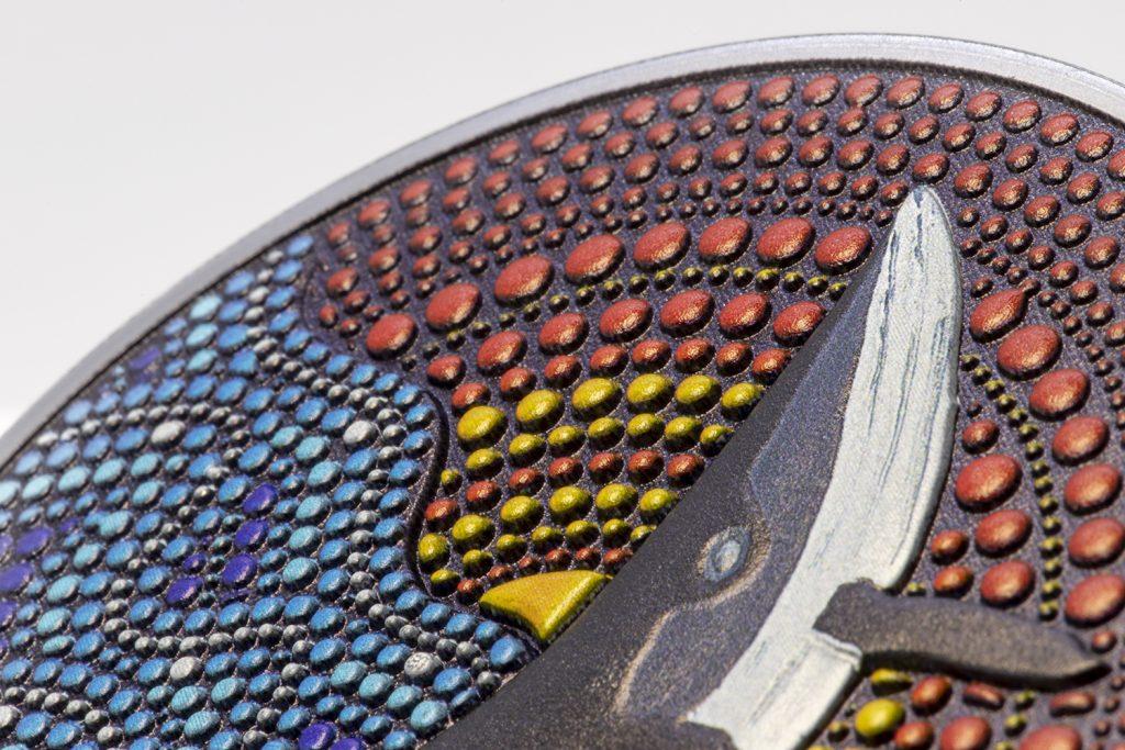 Palau 2021 20 Dollars The Whale Dot Art Series Silver Coin