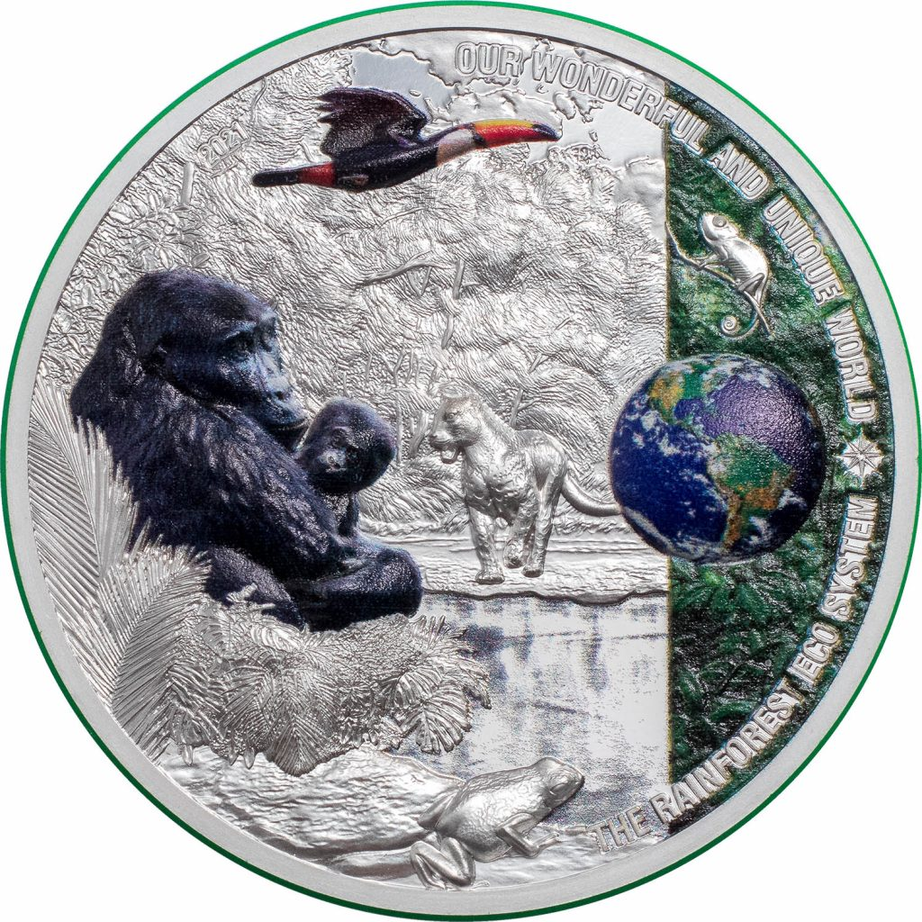Palau 2021 10 Dollars Rainforest - Our Earth Ecosystems Silver Coin