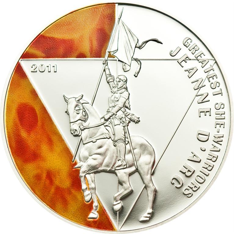 Togo 2011 500 Francs Jeanne d Arc Silver Coin