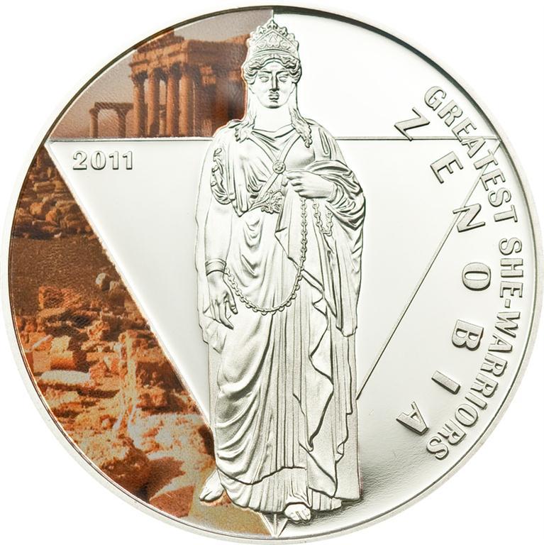 Togo 2011 500 Francs Zenobia Silver Coin