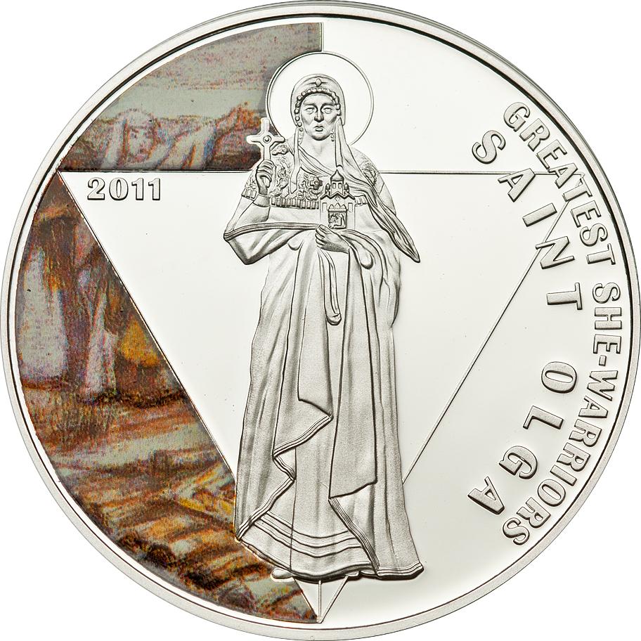 Togo 2011 500 Francs Saint Olga Silver Coin