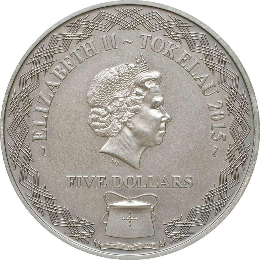 Tokelau 2015 5 Dollars Lady Lovibond Silver Coin