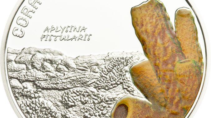 Tuvalu 2011 1 Dollar Aplysina Fistularis Silver Coin
