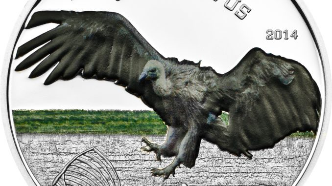 Tanzania 2014 1000 Shillings Vulture Gyps Vulvis Silver Coin