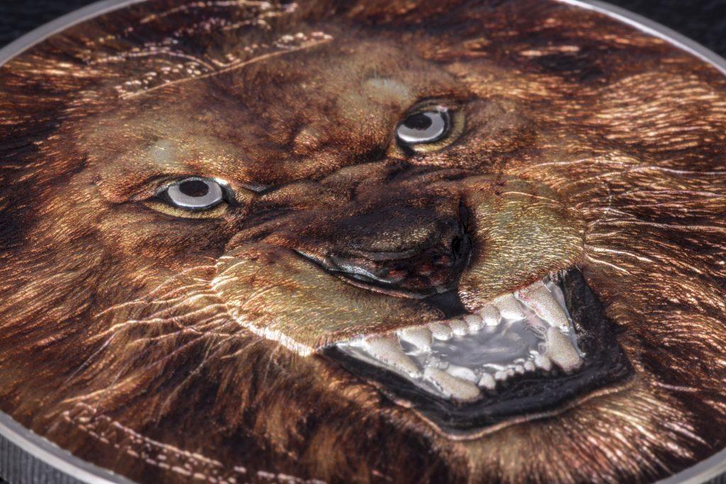 Tanzania 2018 1500 Francs Panthera Leo Lion Silver Coin