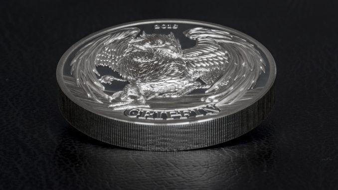 Tanzania 2018 1500 Shillings Griffin Silver Coin