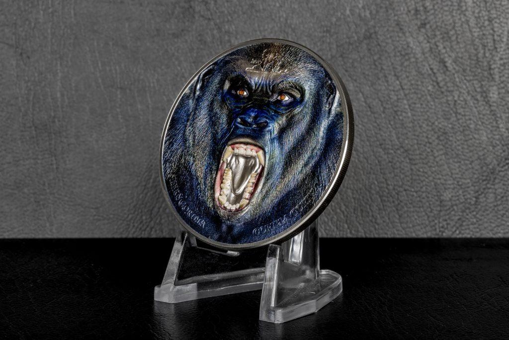 Tanzania 2019 1500 Shillings Western Gorilla Silver Coin